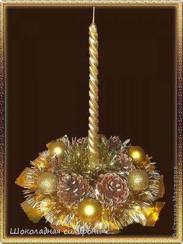 Хоть Новый год с Рождеством уже и прошли, но все равно покажу. Нового ничего не открою наверное - у многих девочек работы гораздо лучше и интереснее, но поделиться хочется. Елочка конфетная, тяжелая. Ярусы все открываются (сделаны по типу шкатулок), внутри еще ассорти из конфет - делалась на коллектив от руководства. фото 7