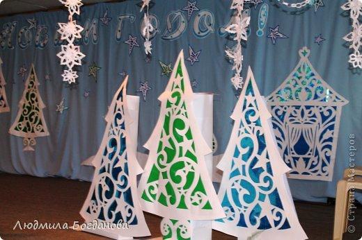 Оформление сцены к Новогоднему спектаклю. фото 2