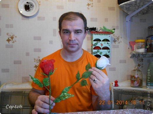 Розы из бисера Бисер Клей