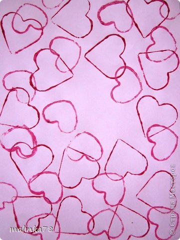 Продолжаем тему дня Святого Валентина. Эту работу мы сделали с детками 3-4 лет.  фото 2