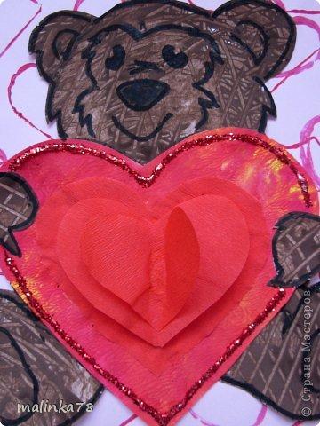 Продолжаем тему дня Святого Валентина. Эту работу мы сделали с детками 3-4 лет.  фото 10