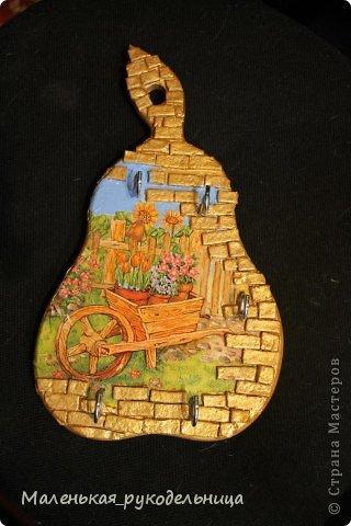 Вот такую ключницу подарила тетё на Рождество, теперь то их ключи всегда будут на месте.