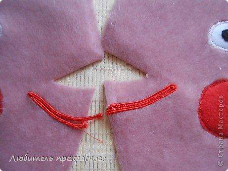 Игрушка Мастер-класс Шитьё Мультяшные свинка Пеппа и Джордж Тесьма шнур Ткань фото 8