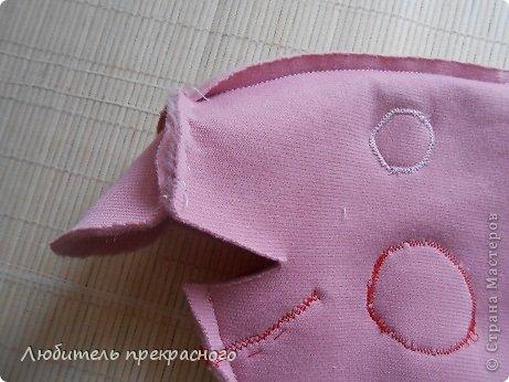 Игрушка Мастер-класс Шитьё Мультяшные свинка Пеппа и Джордж Тесьма шнур Ткань фото 12