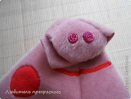 Игрушка Мастер-класс Шитьё Мультяшные свинка Пеппа и Джордж Тесьма шнур Ткань фото 11