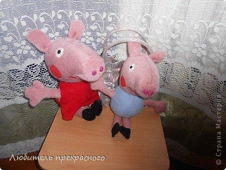 Игрушка Мастер-класс Шитьё Мультяшные свинка Пеппа и Джордж Тесьма шнур Ткань фото 33