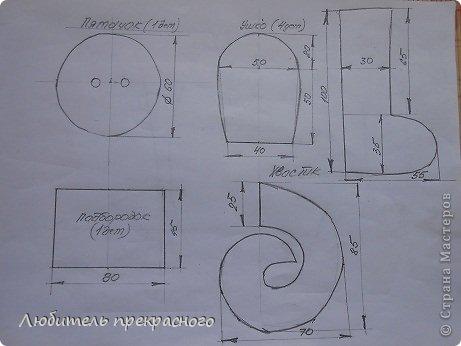 Игрушка Мастер-класс Шитьё Мультяшные свинка Пеппа и Джордж Тесьма шнур Ткань фото 3