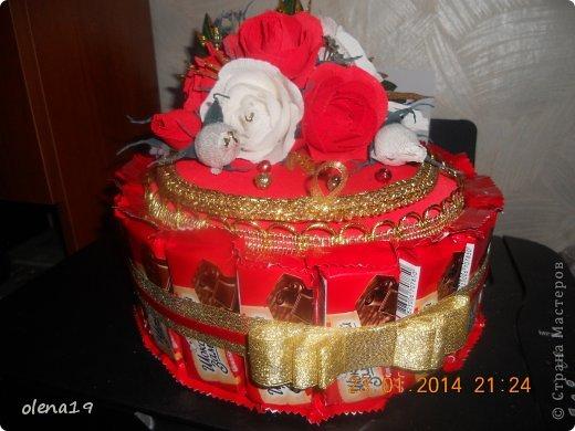 Тортик в красном цвете! Не синий!!! фото 2