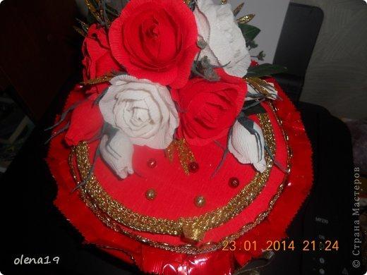 Тортик в красном цвете! Не синий!!! фото 3