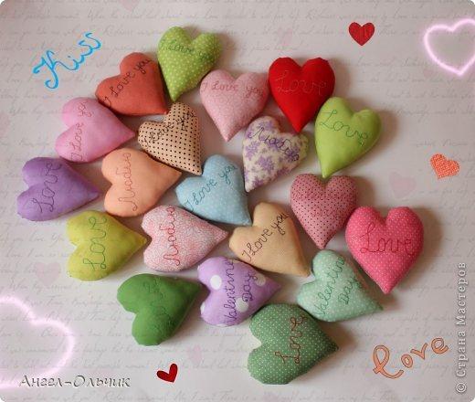 Всего сердечек 20 штук,размер каждого 13 * 10 см.Вышивка вручную сделана. фото 1