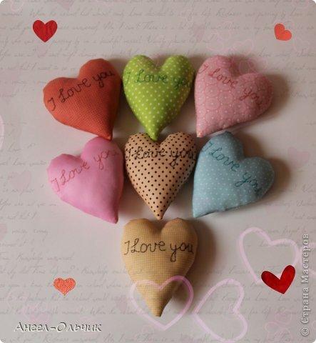 Всего сердечек 20 штук,размер каждого 13 * 10 см.Вышивка вручную сделана. фото 5