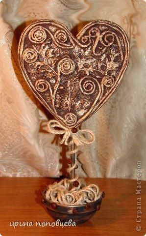 Топиарии-сердца в технике пейп-арт фото 2