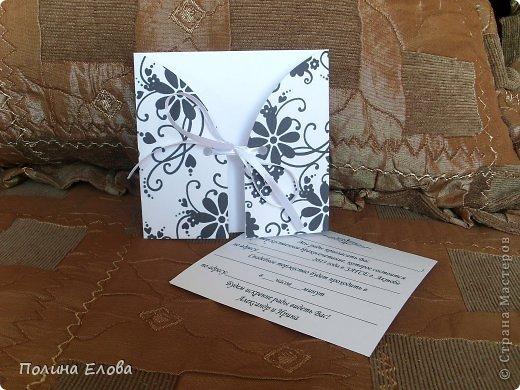 Всем добрый день! Пробовала делать открытки - пригласительные на свадьбу. Работы прошлогодние. Не скрапбукинг конечно, но что есть. )))))  фото 9