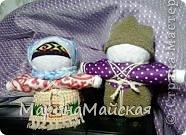 Крупеничка (зерновушка) и богач. Высота - 11-12 см. Куклы наполнены крупой (здесь гречка и горох). Куклы изготавливаются на сытую семейную жизнь, на достаток, на благополучие. Сделала на Новый год родным. фото 1