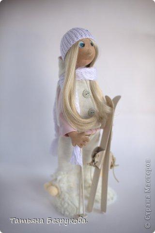 """Сочи 2014  года  """"Элен лыжница"""" Текстильная кукла"""