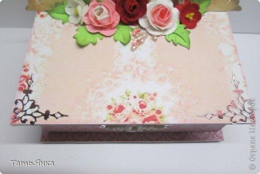 Очень мне понравилось делать шкатулочки. Основа шкатулки переплетный картон, основная  вырубка многослойная, чтобы чувствовалась толщина. фото 9