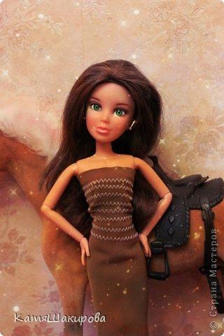 Привет! Меня зовут Катя , а это моя кукла Марта. (платье я сшила сама) фото 3