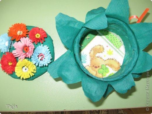 Такие шкатулочки мы дарили мамам к 8 марта. Делали детки 5-6 лет в детском саду на моих занятиях. фото 2