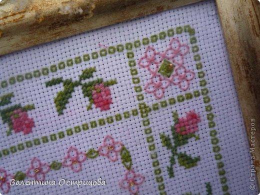 Картина панно рисунок Валентинов день Вышивка        Плетистая роза  Канва Ленты Нитки фото 8