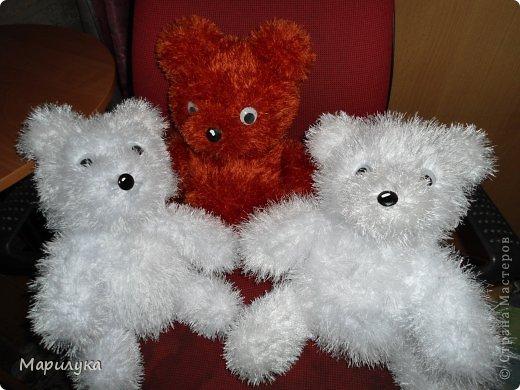 Игрушка Мастер-класс Вязание спицами медвежки +мини МК Нитки фото 1