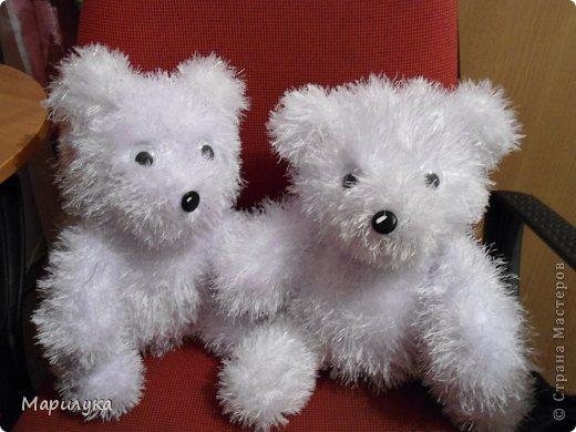 Игрушка Мастер-класс Вязание спицами медвежки +мини МК Нитки фото 3