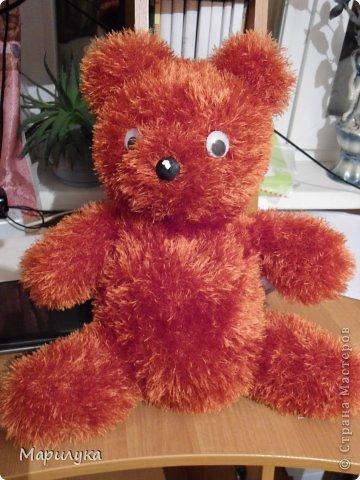 Игрушка Мастер-класс Вязание спицами медвежки +мини МК Нитки фото 2