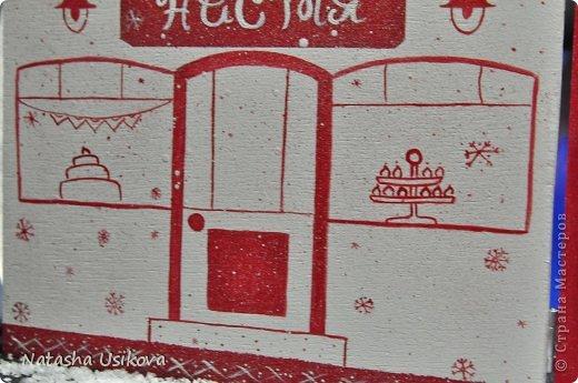Добрый всем день!!!! И хоть Новогодние и Рождественские праздники давно позади, я хочу показать Вам то, что я сделала в конце прошлого года для деток своей подруги. Это рождественский календарь из дерева-2 маленьких магазинчика или 2 рождественские лавки фото 2
