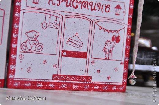 Добрый всем день!!!! И хоть Новогодние и Рождественские праздники давно позади, я хочу показать Вам то, что я сделала в конце прошлого года для деток своей подруги. Это рождественский календарь из дерева-2 маленьких магазинчика или 2 рождественские лавки фото 5