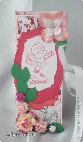 Добрый день! Выставляю на ваш суд подарочек сделанный для родившейся девочки (или ее мамаы?).  фото 3