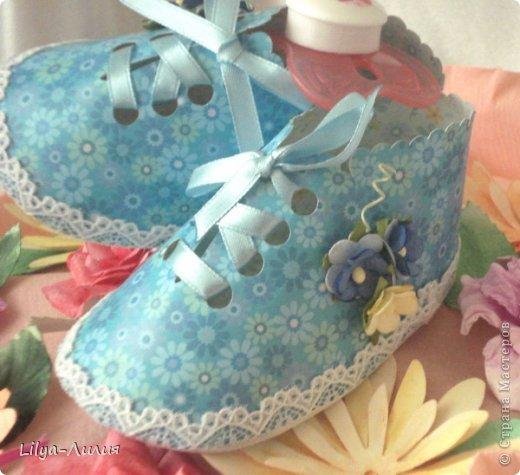 Добрый день! Выставляю на ваш суд подарочек сделанный для родившейся девочки (или ее мамаы?).  фото 7