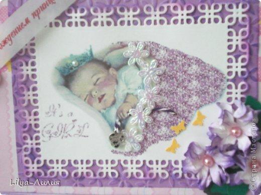 Добрый день! Выставляю на ваш суд подарочек сделанный для родившейся девочки (или ее мамаы?).  фото 11