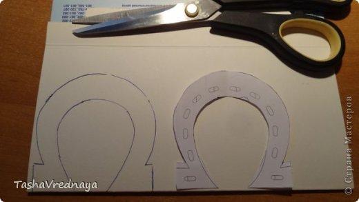 Мастер-класс Поделка изделие День рождения Моделирование конструирование Подкова из джута на подставке МК Пряжа фото 2