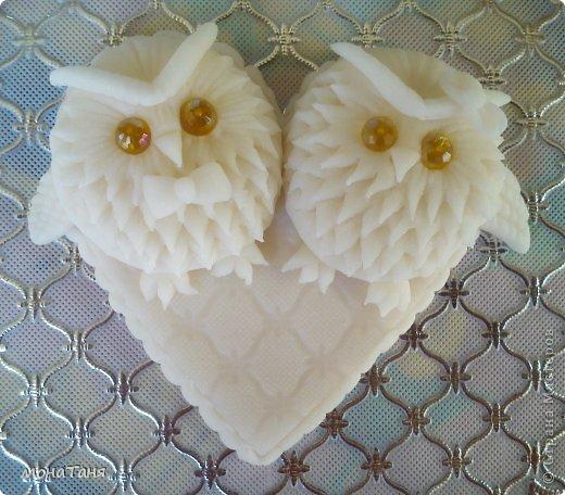 """Здравствуйте! Вот пришла мне в голову такая идейка, и я слепила валентинку """"влюбленные совы"""" из холодного фарфора. МК по лепке такой совы здесь https://stranamasterov.ru/node/671191 фото 4"""