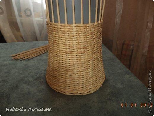 Мастер-класс Поделка изделие Плетение МК Загибки Бумага газетная Трубочки бумажные фото 2