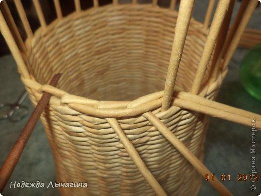 Мастер-класс Поделка изделие Плетение МК Загибки Бумага газетная Трубочки бумажные фото 7