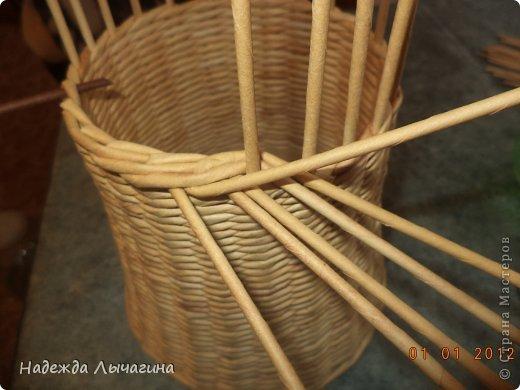 Мастер-класс Поделка изделие Плетение МК Загибки Бумага газетная Трубочки бумажные фото 11