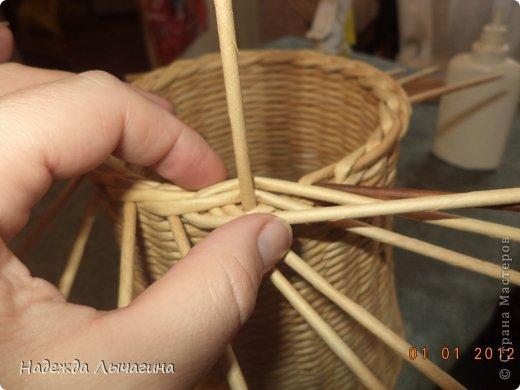 Мастер-класс Поделка изделие Плетение МК Загибки Бумага газетная Трубочки бумажные фото 13