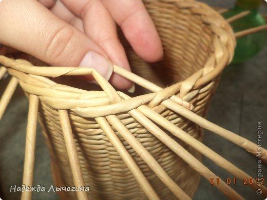 Мастер-класс Поделка изделие Плетение МК Загибки Бумага газетная Трубочки бумажные фото 15
