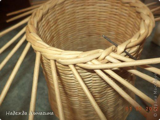 Мастер-класс Поделка изделие Плетение МК Загибки Бумага газетная Трубочки бумажные фото 16