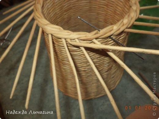 Мастер-класс Поделка изделие Плетение МК Загибки Бумага газетная Трубочки бумажные фото 20
