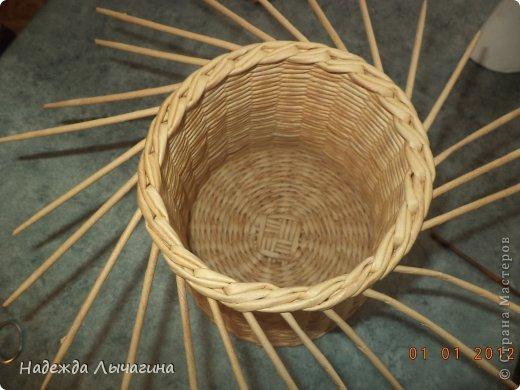 Мастер-класс Поделка изделие Плетение МК Загибки Бумага газетная Трубочки бумажные фото 21