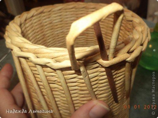 Мастер-класс Поделка изделие Плетение МК Загибки Бумага газетная Трубочки бумажные фото 24