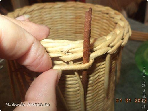 Мастер-класс Поделка изделие Плетение МК Загибки Бумага газетная Трубочки бумажные фото 26