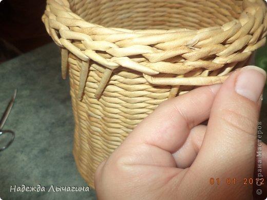 Мастер-класс Поделка изделие Плетение МК Загибки Бумага газетная Трубочки бумажные фото 29