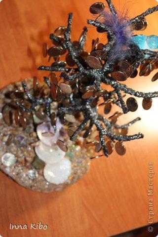 Здравствуйте!!! рада  вам))) ВОТ ВАМ МОЕ ДЕНЕЖНОЕ ДЕРЕВО))) почти реальное дерево, корни есть, грунт имеется.. листьев нет но плоды то есть)))  фото 3