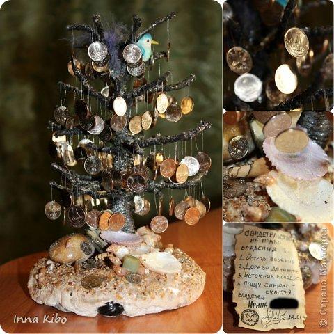 Здравствуйте!!! рада  вам))) ВОТ ВАМ МОЕ ДЕНЕЖНОЕ ДЕРЕВО))) почти реальное дерево, корни есть, грунт имеется.. листьев нет но плоды то есть)))  фото 1