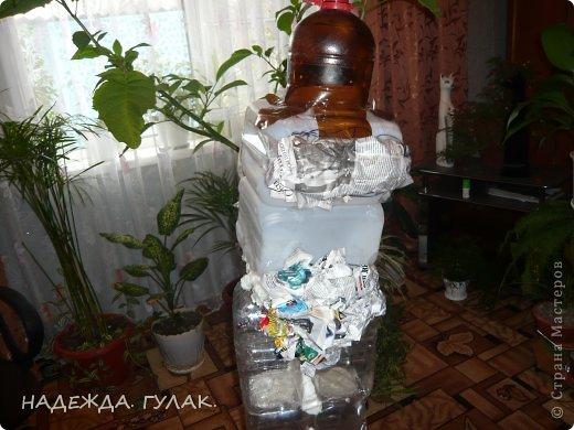 Как сделать бабу ягу из бутылки своими руками