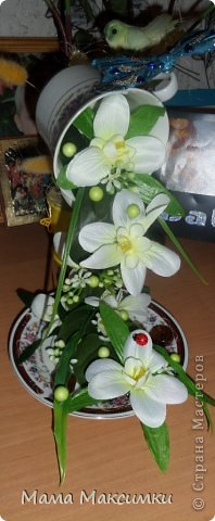 "Парящая кружка ""Орхидея"" фото 1"