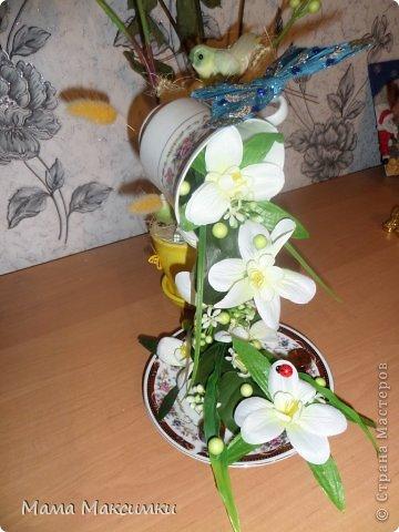 "Парящая кружка ""Орхидея"" фото 2"