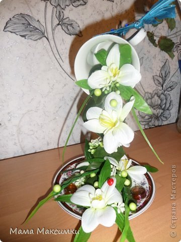 "Парящая кружка ""Орхидея"" фото 3"